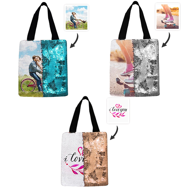 Personalized Sequin Tote Bag