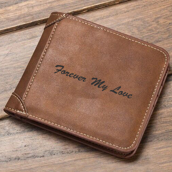Personalized  Photo  Men's Short Leather Wallet