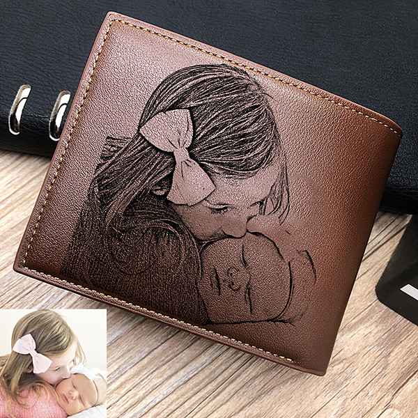 Double-Sided Photo Trifold wallet