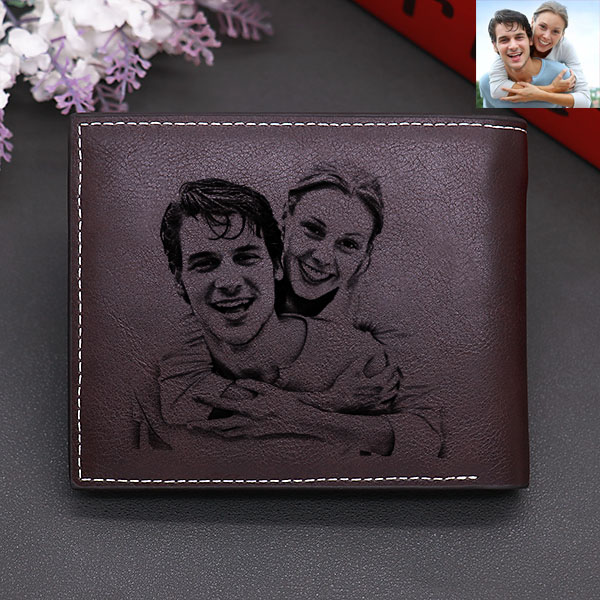 Personalized Double-Sided men's photo tri-fold wallet