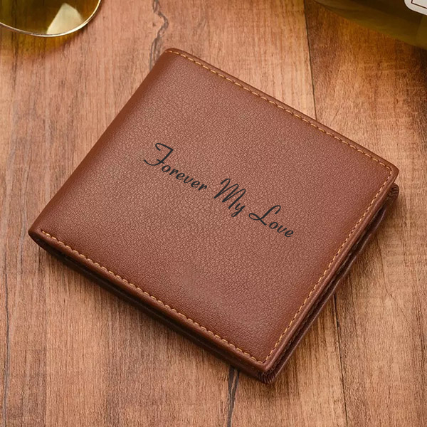 Personalized Genuine Leather Tri-fold Wallet