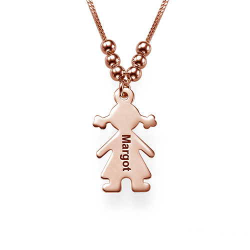 Personalized Necklace with Children Charms