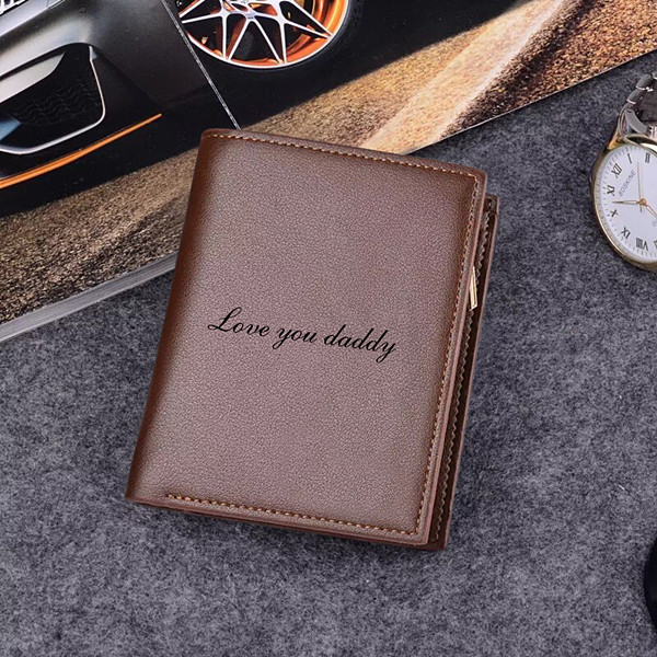 Personalized Photo Trifold Vertical Wallet