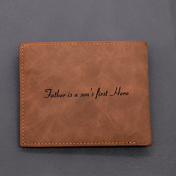 Personalized Vintage Leather Men's Wallet
